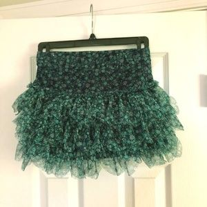 Adorable Justice Size 8 Tulle Skirt with shorts